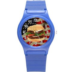 Hamburger Round Plastic Sport Watch (s) by Valentinaart
