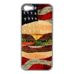 Hamburger Apple Iphone 5 Case (silver) by Valentinaart