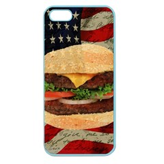 Hamburger Apple Seamless Iphone 5 Case (color) by Valentinaart