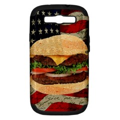 Hamburger Samsung Galaxy S Iii Hardshell Case (pc+silicone) by Valentinaart
