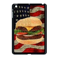 Hamburger Apple Ipad Mini Case (black) by Valentinaart