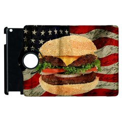 Hamburger Apple Ipad 3/4 Flip 360 Case by Valentinaart