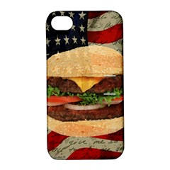 Hamburger Apple Iphone 4/4s Hardshell Case With Stand by Valentinaart