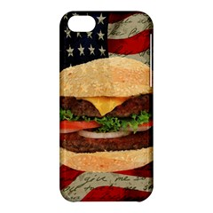 Hamburger Apple Iphone 5c Hardshell Case by Valentinaart