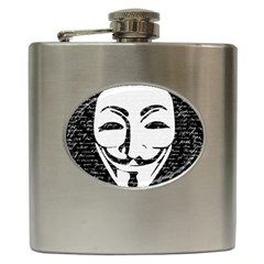 Antonymous   Hip Flask (6 Oz) by Valentinaart
