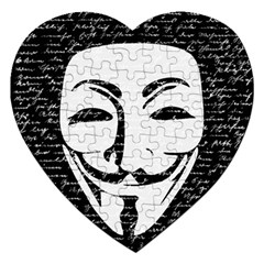 Antonymous   Jigsaw Puzzle (heart) by Valentinaart