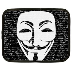 Antonymous   Netbook Case (xxl)  by Valentinaart
