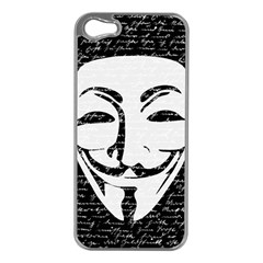 Antonymous   Apple Iphone 5 Case (silver) by Valentinaart