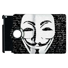 Antonymous   Apple Ipad 2 Flip 360 Case by Valentinaart