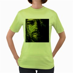 Kurt Cobain Women s Green T Shirt by Valentinaart