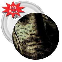 Kurt Cobain 3  Buttons (100 Pack)  by Valentinaart
