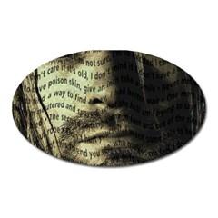 Kurt Cobain Oval Magnet by Valentinaart