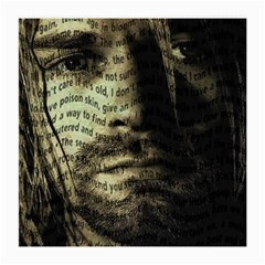Kurt Cobain Medium Glasses Cloth (2 Side) by Valentinaart