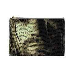 Kurt Cobain Cosmetic Bag (large)  by Valentinaart
