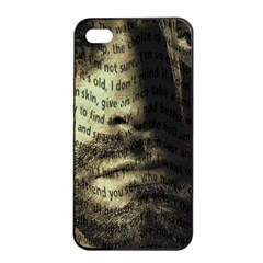 Kurt Cobain Apple Iphone 4/4s Seamless Case (black) by Valentinaart