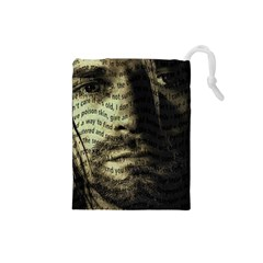 Kurt Cobain Drawstring Pouches (small)  by Valentinaart