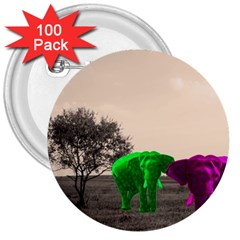 Africa  3  Buttons (100 Pack)  by Valentinaart