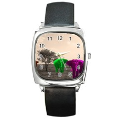 Africa  Square Metal Watch by Valentinaart