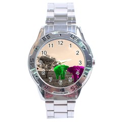 Africa  Stainless Steel Analogue Watch by Valentinaart