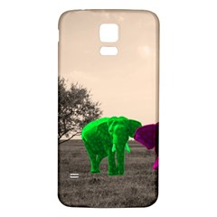 Africa  Samsung Galaxy S5 Back Case (white) by Valentinaart