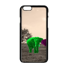 Africa  Apple Iphone 6/6s Black Enamel Case by Valentinaart