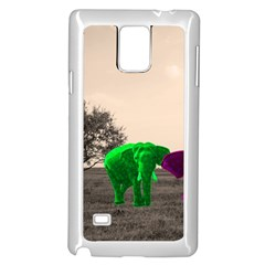 Africa  Samsung Galaxy Note 4 Case (white) by Valentinaart