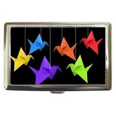 Paper Cranes Cigarette Money Cases by Valentinaart