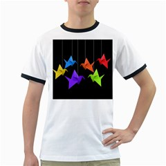 Paper Cranes Ringer T Shirts by Valentinaart