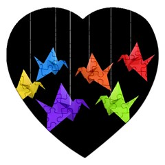 Paper Cranes Jigsaw Puzzle (heart) by Valentinaart