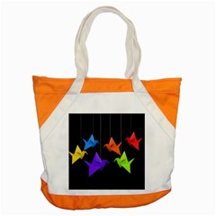 Paper Cranes Accent Tote Bag by Valentinaart