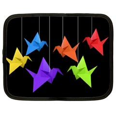 Paper Cranes Netbook Case (xl)  by Valentinaart