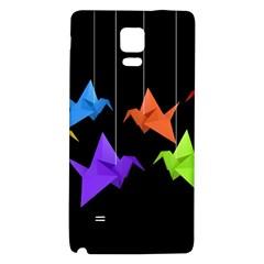 Paper Cranes Galaxy Note 4 Back Case by Valentinaart
