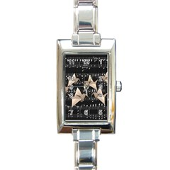 Paper Cranes Rectangle Italian Charm Watch by Valentinaart