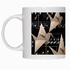 Paper Cranes White Mugs by Valentinaart