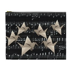 Paper Cranes Cosmetic Bag (xl) by Valentinaart