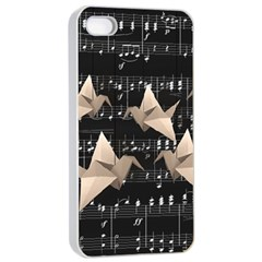 Paper Cranes Apple Iphone 4/4s Seamless Case (white) by Valentinaart