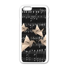 Paper Cranes Apple Iphone 6/6s White Enamel Case by Valentinaart