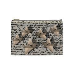 Paper Cranes Cosmetic Bag (medium)  by Valentinaart
