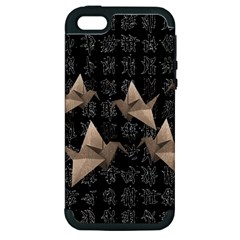 Paper Cranes Apple Iphone 5 Hardshell Case (pc+silicone) by Valentinaart