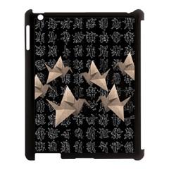 Paper Cranes Apple Ipad 3/4 Case (black) by Valentinaart
