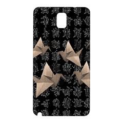 Paper Cranes Samsung Galaxy Note 3 N9005 Hardshell Back Case by Valentinaart