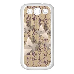 Paper Cranes Samsung Galaxy S3 Back Case (white) by Valentinaart