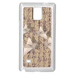 Paper Cranes Samsung Galaxy Note 4 Case (white) by Valentinaart