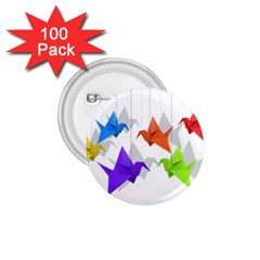 Paper Cranes 1 75  Buttons (100 Pack)  by Valentinaart