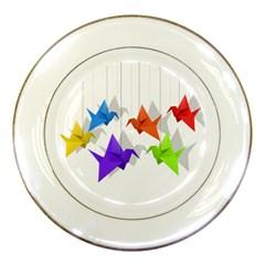 Paper Cranes Porcelain Plates by Valentinaart
