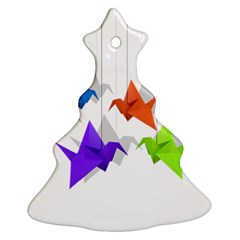 Paper Cranes Ornament (christmas Tree)  by Valentinaart