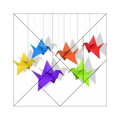 Paper Cranes Acrylic Tangram Puzzle (6  X 6 ) by Valentinaart