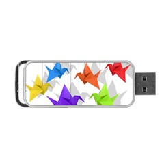 Paper Cranes Portable Usb Flash (one Side) by Valentinaart