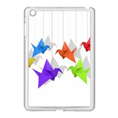 Paper Cranes Apple Ipad Mini Case (white) by Valentinaart