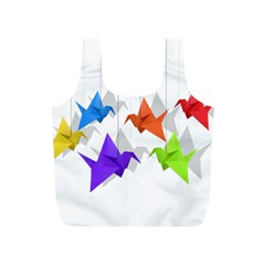 Paper Cranes Full Print Recycle Bags (s)  by Valentinaart